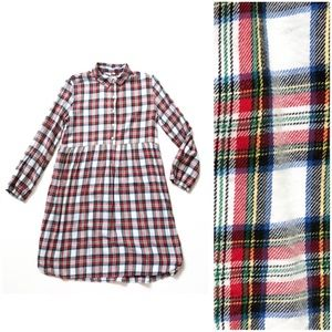 GAP Kids Plaid Flannel Long Sleeve Shirtdress